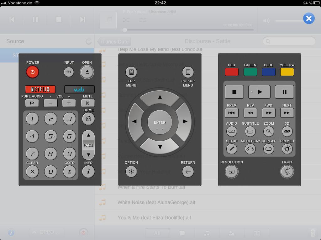 Ipad Remote Blu Ray Player Steuern 04