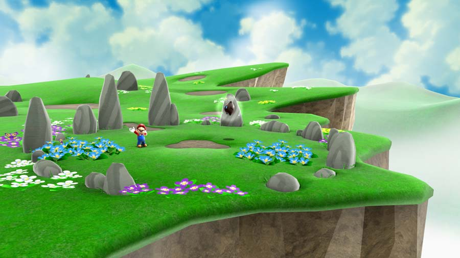 super mario galaxy natur