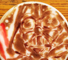 Star Wars Kaffee Kunst Coffee Art Darth Vader Japan