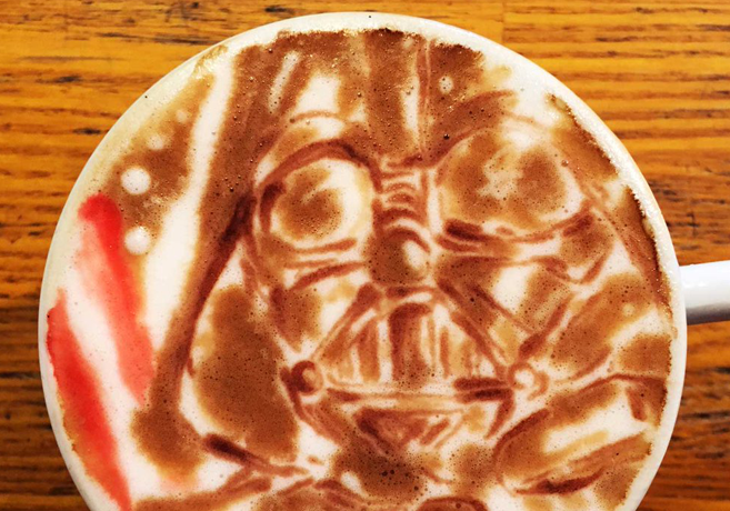 Star Wars Kaffee Kunst Coffee Art Darth Vader Japan