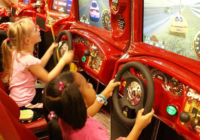 children gaming by Belinda Hankins Miller