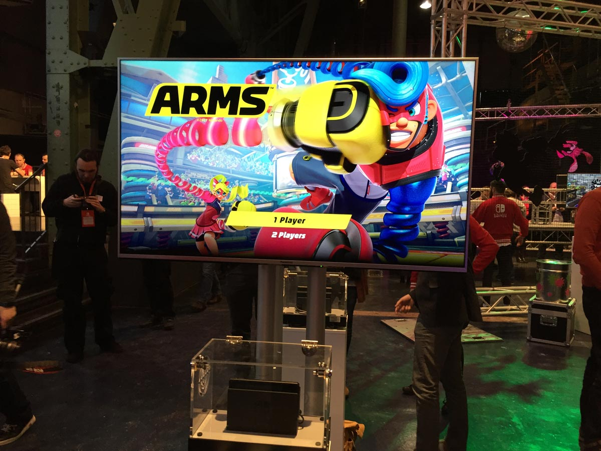 Nintendo Switch Event München Arms