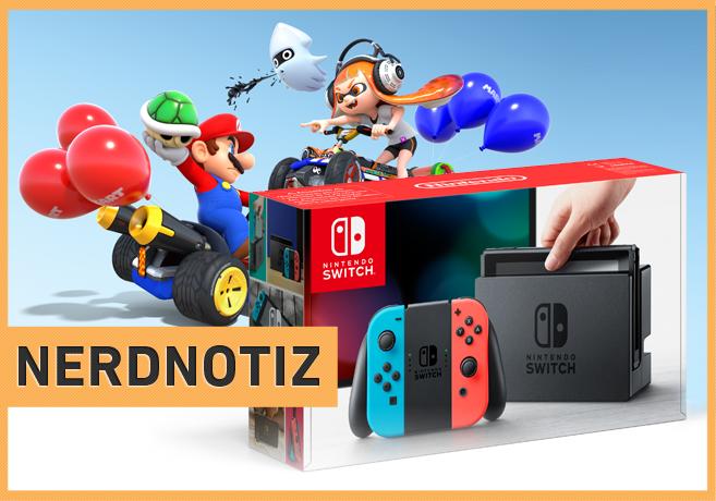 Nintendo Switch Splatoon 2 Mario Kart 8 Deluxe Artwork Package Shot